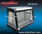 Luxury glass food warming display showcase / display cabinet