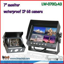 Good performance CAR REAR VIEW TFT LCD MONITOR + REAR VIEW CAMERA BACKUP SYSTEM KITS