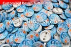 Button Pin coated in texture laminate for promotional give away