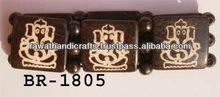 ganesha picture Bone Beads Stretch Bracelets Jewelry