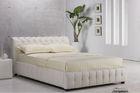 A836# king size black or white leather platform bed