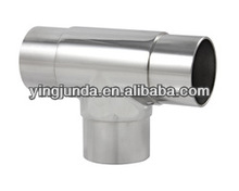 best handrail connector stainless steel elbow fitting 180 degree flush tee t connector pipe