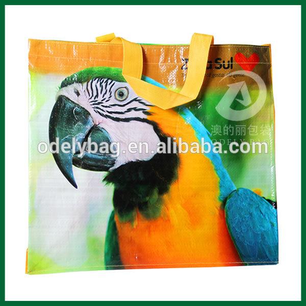 laminated pp woven shopping bag,pp woven laminated shopping bag,promotional tote laminated pp woven bag