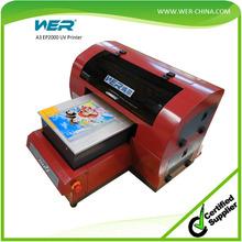 multifunctional flatbed uv printer a3 print phone case, pen, usb drive, etc.