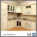 Branco acabamento pintura carvalho vermelho sólido armário de cozinha de madeira