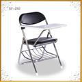 caliente de metal plegable estudiante silla de la escuela con la escr