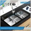 amplamente utilizado durável projeto original famosa marca profunda em açoinox pia da cozinha com cuba dupla para venda