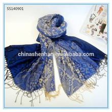 Wholesale lady 100% digital print silk scarf