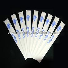 21 cm palillos de bambú desechables con cubierta de papel