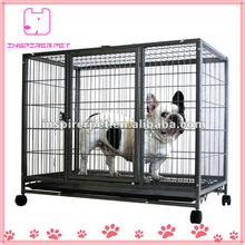 Heavy Duty Metal Square Tube Dog Cage with Wheels