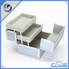 MLD-CC411 Customized Lightweight Blue Durable Fashion Beauty Aluminium Cosmetic Case