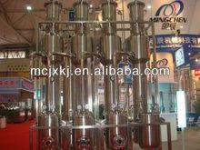 Milk/juice evaporator, milk processing machine