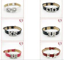 fashion 10mm rhinestone slide bracelet letters