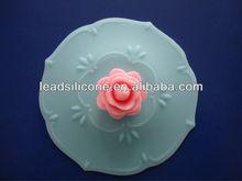 LFGB & FDA promotion Rose silicon cup lid