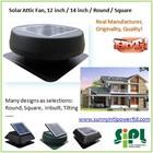 Natural Air Conditioner! 15 watt Inbuilt Solar Panel Powered 14 inch Attic Roof Air Ventilator Fan