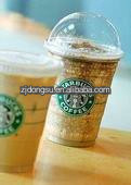 16oz clear PET starbucks cold coffee cup,PET take away cold coffee cup with lid, clear plastic cup for cold beverage