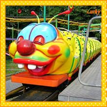Amazing!Theme park amusement rides mini roller coaster for 2015 popular thrilling family rides
