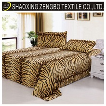 2014 China cheap leopard printed polar fleece blanket flannel blanket european bed sheets