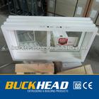 Sliding basement pvc window profile,pvc window