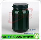 250cc brown amber PET plastic /pill bottle /sex capsules bottle in india with OEM color tamper proof cap/lid