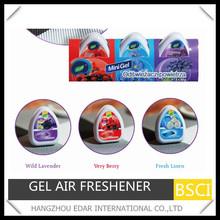 3PK*60g popular mini gel air freshener