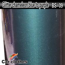 New design glitter chameleon vinyl auto wrapping