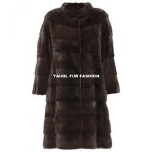 mk15109 2015 elegant women mahogany mink fur Coat