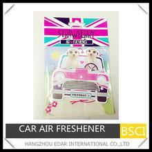 Hanging car paper air freshener