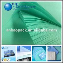 Medical Green/bule/White crepe paper for hospital