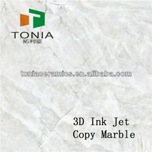 Foshan ceramics manufacturer 3D Inkjet Marble tile Bathroom style selections tile
