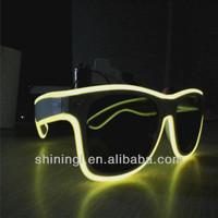 El-Wires sunglasses in ray-ban (wayfarer) style,sound active el wire glowing sunglasses