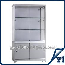 2014 New Style Fashion High Cabinet Aluminum Glass Showcase/Glasses Display Showcase