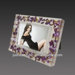 Customised freestanding clear acrylic photo frame