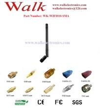 WiFi Antenna rotatable rubber: WiFi rubber antenna, SMA male straight connector