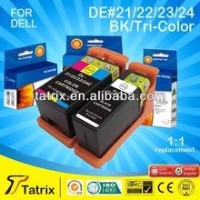 Inkjet Ink Cartridge 21 22 23 24 for Dell Use for Dell Inkjet Printer