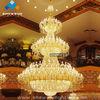 Hotel lobby crystal chandelier lighting