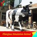 el parque temático de la escultura de los animales de resina de vaca tamaño de la vida de la vaca
