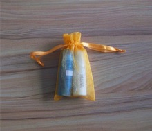long organza bags/drawstring organza pouch/cosmetic brush set in pouch