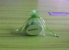 christmas tree organza gift bag/custom printed drawstring shoe bags/round organza bags