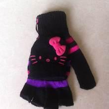 High quality fingerless knitting pattern gloves