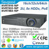 Professional 16/32/64ch IP Camera input 2U Case Plug & Play Dahua nvr7832-16P POE NVR