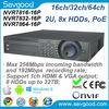 Professional 16/32/64ch IP Camera input 2U Case Plug & Play 16 POE nvr7832-16P Dahua NVR POE
