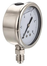 All stainless steel liquid filled bourdon tube gauge manufacturer