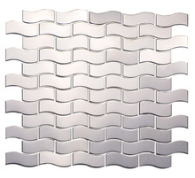 Metal Silver Color Stainless Steel Mosaic Tiles