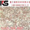 Cheapest Chinese G687 Peach Red granite slab
