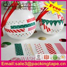 Christmas decoration,Christmas craft, Christmas decoration washi paper tape