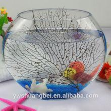 Handmade Decorative Round Glass Big Fish Bowl Fish Tank