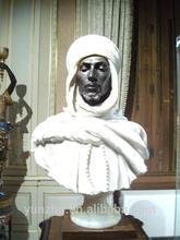 personnalisé style africain sculpture buste en marbre sculpté à la main pour la vente