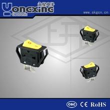 Hot sale 10/16A 125/250V AC waterproof single pole single throw electric Rocker Switch