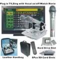 De audio y vídeo reproductor de karaoke en la demanda con su voz en off dígitos micrófono +8 tarjeta sd slots+160gb disco duro slot(kod - 100+sj - 100